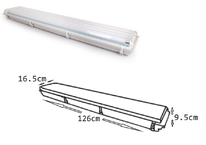 GABINETE APV IP65 PARA 4 TUBOS LED T8 120cm DILAE