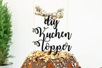 BIld: DIY Ideen für Advent und Weihnachten, DIY Kuchentopper und Caketopper mit Glöckchen als Kuchendeko selber machen