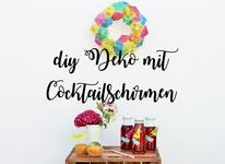 Sommer Party Idee: DIY Cocktailschirmchen Kranz Deko, jetzt auf dem DIY Deko und Partystling Blog Partystories finden