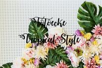 tropical Party oder Hochzeit: Anleitung für eine DIY Fotowand mit Blumen