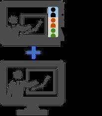 オンラインによるリアル企業内研修+eラーニングによる個人学習のイメージ画像