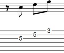 ギターアドリブ入門講座(初心者) 2拍パターン3-2