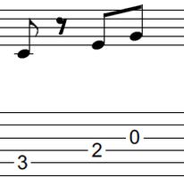 ギターアドリブ入門講座(初心者) 2拍パターン2-1