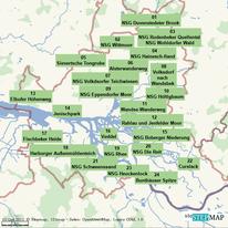 Bild: Karte mit den Wanderungen auf Hamburger Stadtgebiet