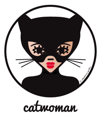 ICONS ICONES CATWOMAN ILLUSTRATION AFFICHE ART MURAL POSTER CREATION ORIGINALE © Stephanie Gerlier / T FOR TIGER