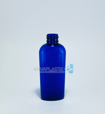 Botella oval de PEt azul