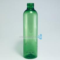 Envase boston 250ml. verde, Botella PET verde