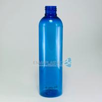 Envase boston 250ml PET azul, Botella PET azul ciel