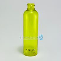 Envase PET boston amarilla 125ml., Botella sonata amarilla