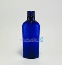 Envase oval pet 125ml azul cobalto