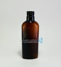 Botella oval de PET ámbar 125ml.