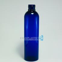 Envase PET boston cobalto 250ml., Botella sonata azul