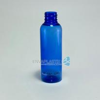 Envase PET boston round 60ml azul, botella jefferson round, botella sonata negra