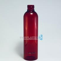 Envase boston 250ml PET rojo, Botella PET roja