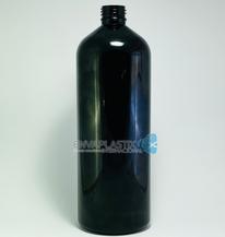 Envase boston 1lt. PET negro , Botella PET negra
