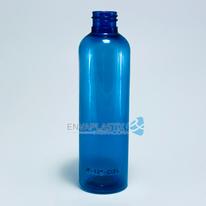 Envase PET boston azul 125ml., Botella PET azul