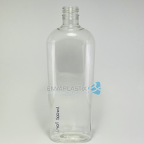 Envase oval de PET 500ml.