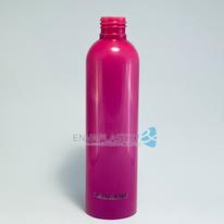 Envase PET boston rosa 250ml., Botella rosa