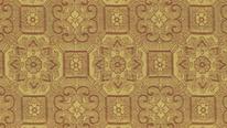 掛軸表装 仏用緞子 唐花蜀江紋