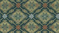 掛軸表装 仏用緞子 菱花蜀江紋
