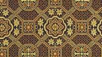 掛軸表装 仏用緞子 準金襴紺蜀江