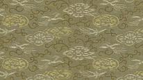 掛軸表装 洛彩緞子 鳳凰飛雲紋