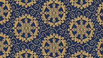 掛軸表装 仏用緞子 準金襴矢車紋