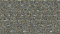 掛軸表装 洛彩緞子 浪千鳥紋