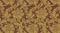 掛軸表装 仏用緞子 準金襴茶牡丹紋(内廻し用)