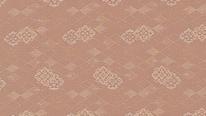 掛軸表装 洛彩緞子 花菱重地紋