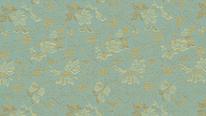 掛軸表装 洛彩緞子 椿牡丹唐草紋