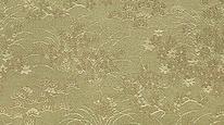 掛軸表装 洛彩緞子 三重笹草花紋
