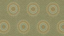掛軸表装 洛彩緞子 花鏡菊紋