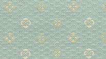 掛軸表装 洛彩緞子 麻葉地花紋