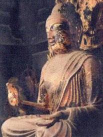 奈良県・唐招提寺金堂の弥勒仏坐像