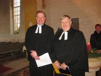 Pfarrer Herbst und Pfarrer Bachmann