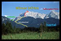 """Zum """"Wörner"""" -  2474 m,  im Karwendelgebirge"""