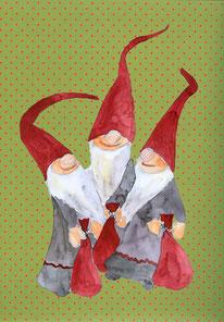 Grußkarte Weihnachten Wichtel