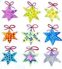 Grußkarten Sterne Weihnachten