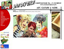 Screenshot der Homepage des Japanshops Berlin