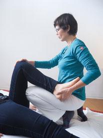 Claudia Schüle bei der Shiatsu Behandlung