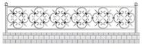 оградки кованые кресты