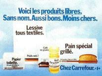 """Affiche publicitaire vantant les """"produits libres"""""""