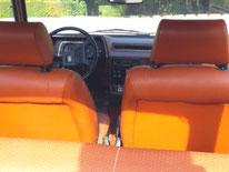Années 70 : les sièges en simili-cuir de notre Simca 1307