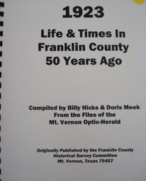 Cover of Life and Times in Franklin County, Texas, 1923