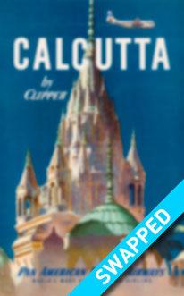 Vintage Poster Pan American World Airways Calcutta by Clipper