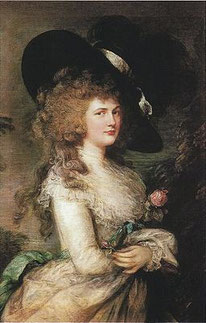 Portrait of Georgiana, Duchess of Devonshire. 1787. Thomas Gainsborough [Public domain], via Wikimedia Commons