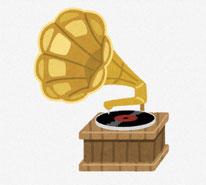 グラミー賞の象徴 オーディオのイラスト