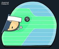 Helmet of Patrick Lemarie by Muneta & Cerracín