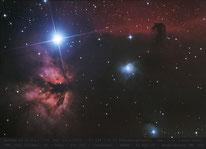 NGC 2024 , B 33 , Pferdekopf- Nebel